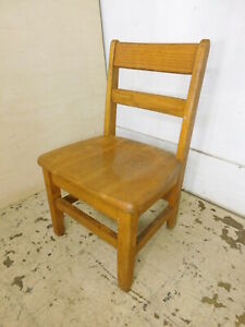 Vintage Oak Childs School Small Chair Buy 1 3 12 Seat Tall