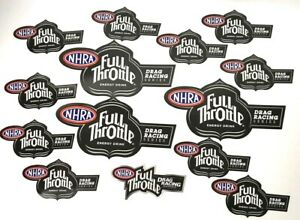 Lot Of 14 Nhra Full Throttle Racing Decal Stickers Drag Racing Free Shipping