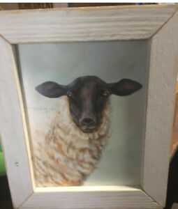 Sheep Ewe Wooden Primitive New Picture