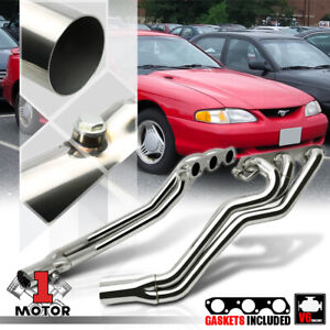 Stainless Steel Long Tube Exhaust Header Manifold For 94 04 Mustang 3 8 308 Sn95