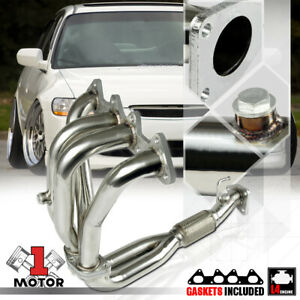 Stainless Steel 4 2 1 Exhaust Header Manifold For 98 02 Honda Accord 2 3 F23a I4