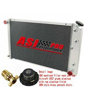 4 Row Aluminum Radiator For 1975 1979 Chevy Nova 1970 81 Chevy Camaro gmc At Mt