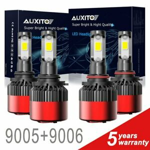 4 Pcs 9005 9006 32000lm Cree Led Headlight High Low Beam Bulb 6500k Kit 144w A2k