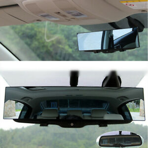 1pc 300mm Wide Curve Inner Clip On Rear View Rearview Mirror Universal Car Truck