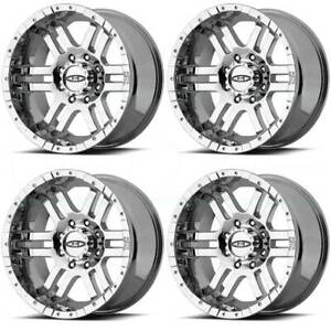 16x8 Moto Metal Mo951 8x6 5 8x165 1 0 Chrome Wheels Rims Set 4