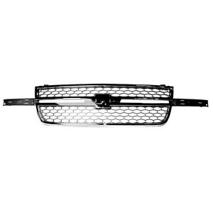 New Grille Painted Gray Front For Chevrolet Silverado 1500 2003 2006 Gm1200546