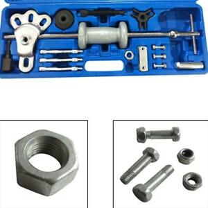 16pc Heavy Duty Steel Slide Hammer And Dent Puller Repair Tool Kit Auto