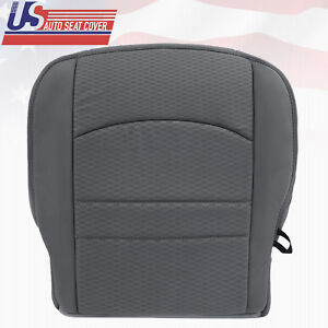 2013 2014 2016 2017 2018 Dodge Ram 1500 2500 Driver Bottom Gray Cloth Seat Cover