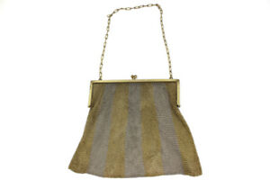 Vintage Gold Plated Sterling Silver Mesh Purse