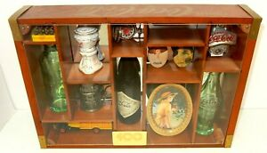 COCA-COLA 100TH ANNIVERSARY CELEBRATION BOTTLES IN HAND CRAFTED WOODEN BOX