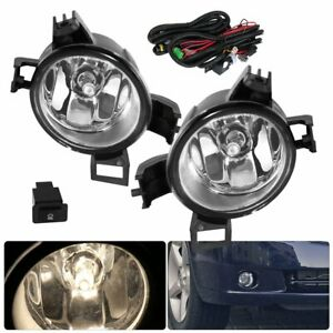 Fog Lights Lamp Clear Fits 2005 2006 Nissan Altima Upgrade Harness Replacement
