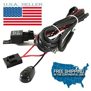 Led Work Light Bar Cree Wiring Harness Kit With On Off Switch Relay Cable Kit Rv