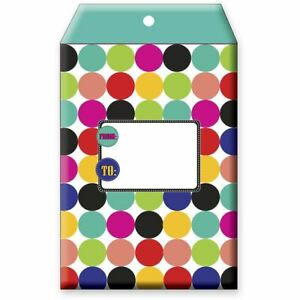 Small Birthday Printed Padded Mailing Envelopes Dots 24 Pieces
