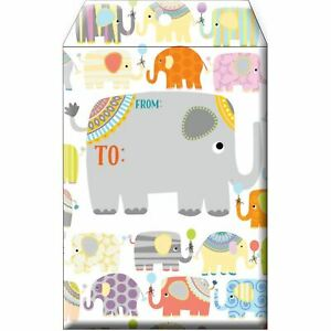 Small Baby Printed Padded Mailing Envelopes Elephant Parade 24 Pieces