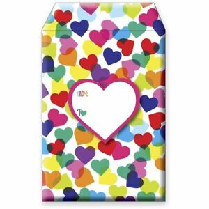 Small Valentine Love Printed Padded Mailing Envelopes Heartfelt 24 Pieces