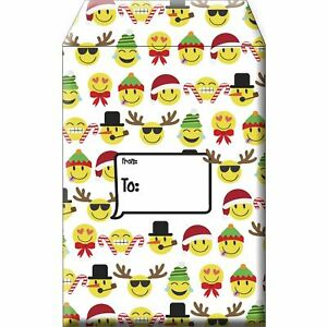 Small Christmas Printed Padded Mailing Envelopes Emojis 24 Pieces