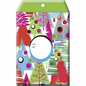 Small Christmas Printed Padded Mailing Envelopes Neon Trees 24 Pieces