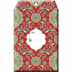 Small Christmas Printed Padded Mailing Envelopes Floral Red 24 Pieces