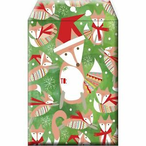 Small Christmas Printed Padded Mailing Envelopes Festive Fox 24 Pieces