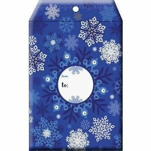 Small Christmas Printed Padded Mailing Envelopes Snowflake 24 Pieces