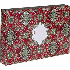 Large Christmas Printed Gift Mailing Boxes Floral Red 24 Pieces