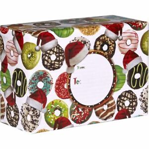 Small Christmas Printed Gift Mailing Boxes Donuts pieces