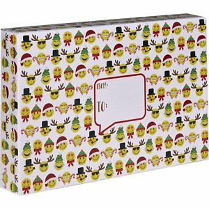 Large Christmas Printed Gift Mailing Boxes Emojis 24 Pieces