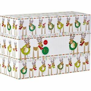 Small Christmas Printed Gift Mailing Boxes Cute Reindeer 24 Pieces