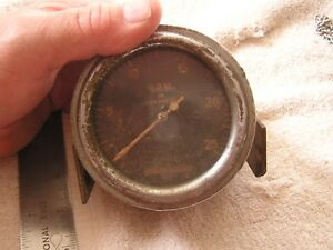 Vintage Antique Stewart Warner Rpm Tachometer Gauge