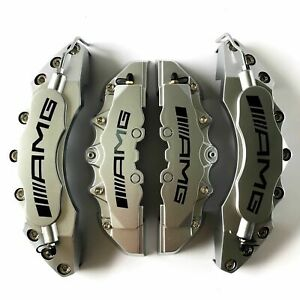 Silver Amg Brake Caliper Cover 4pcs Universal For Mercedes Benz 11 F9 R Plastic