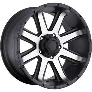 4 New 16x8 Ultra 195u Crusher Black Wheels Rims 15 6x4 50