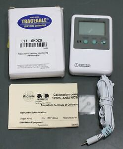 Traceable Memory Monitoring Digital Thermometer 4048 Iso 17025 Calibrated