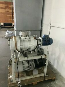 Pfeiffer Pac200 Rotrary Vane Vacuum Pump And Wkp1000a Blower