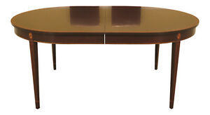 46199ec Stickley Federal Inlaid Mahogany Dining Room Table
