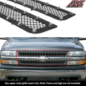 For 1999 2002 Chevy Silverado 1500 Stainless Steel Mesh Rivet Grille