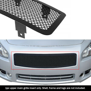 Fits 2009 2014 Nissan Maxima Upper Stainless Black Mesh Grille Grill Insert