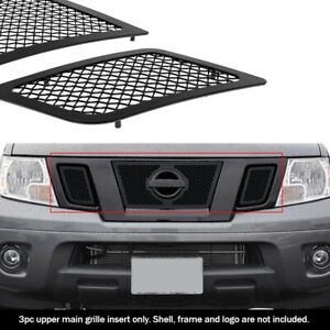 Fits 2009 2020 Nissan Frontier Upper Stainless Black Mesh Grille Grill Insert