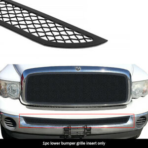 Fits 2002 2008 Dodge Ram 1500 02 09 2500 3500 Lower Stainless Black Mesh Grille
