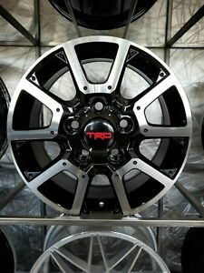 Brand New 5x150 18x8 0 Black Machine Tundra Style Truck Rims Wheels For Toyota