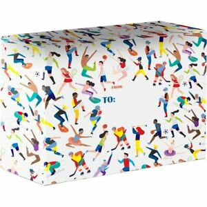 Small Birthday Printed Gift Mailing Boxes Active Sports 24 Pieces