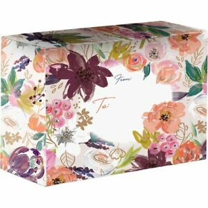 Small Floral Printed Gift Mailing Boxes Twig Twine 24 Pieces