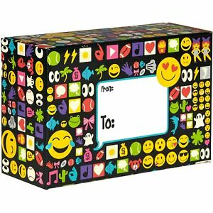 Small Birthday Printed Gift Mailing Boxes Emojis 24 Pieces