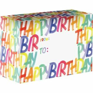 Small Birthday Printed Gift Mailing Boxes Rainbow 24 Pieces