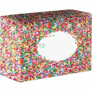 Small Birthday Printed Gift Mailing Boxes Sprinkles 24 Pieces