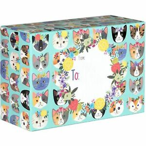Small Printed Gift Mailing Boxes Kitty Cat Kittens 24 Pieces