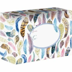 Small Printed Gift Mailing Boxes Feathers 24 Pieces