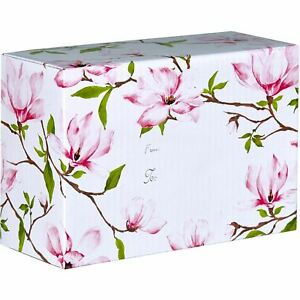 Small Floral Printed Gift Mailing Boxes Magnolia 24 Pieces