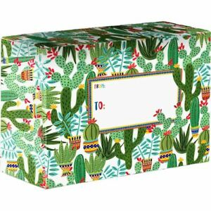 Small Printed Gift Mailing Boxes Sedona Cactus 24 Pieces