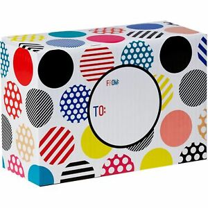 Small Birthday Printed Gift Mailing Boxes Polka Dot Party 24 Pieces