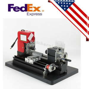 Usa Mini Motorized Metal Lathe Machine Saw Combined Diy Crafts Artwork Tool Kits